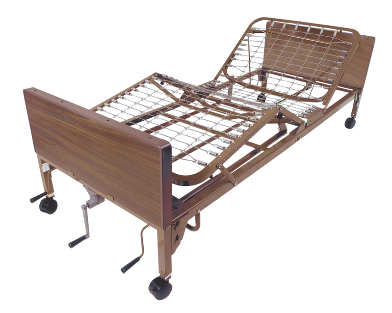 Drive Medical Semi Electric Hospital Bed with Half Rails and Innerspring Mattress
