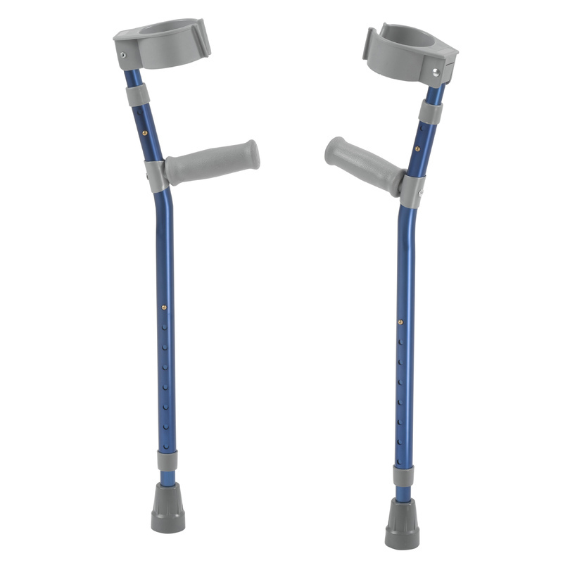 Inspired by Drive Pediatric Forearm Crutches, Medium, Knight Blue, Pair