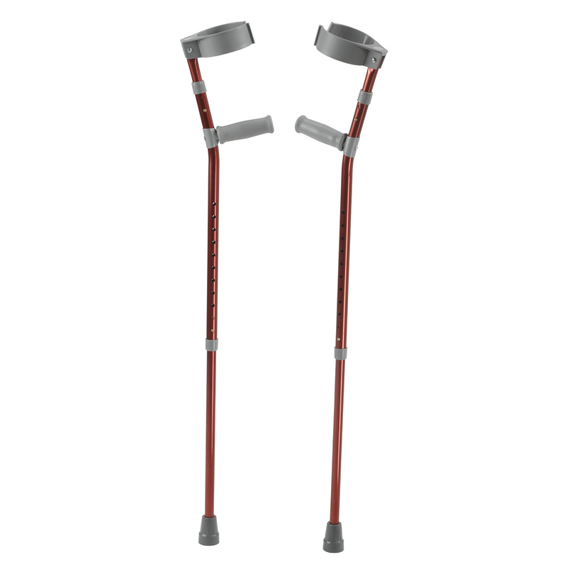 Inspired by Drive Pediatric Forearm Crutches, Medium, Castle Red, Pair
