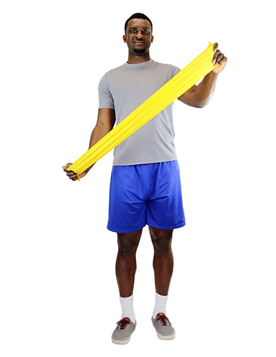 CanDo® Latex Free Exercise Band - Box Of 30, 5' Length - Yellow - X-Light