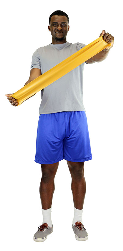 CanDo® Low Powder Exercise Band - 5' Length - Gold - XXX-Heavy