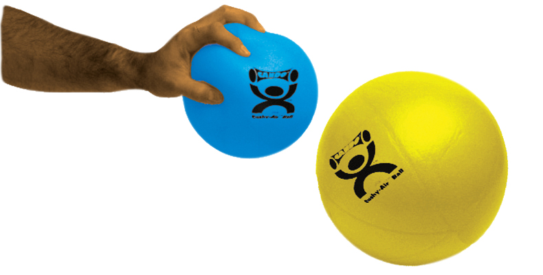 "CanDo® Cushy-Air® Hand Ball - Yellow - 10"" (25 cm)"