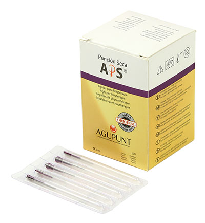 APS Dry Needling Needle, 0.20 x 30mm Dark Purple Tip, 100/Box