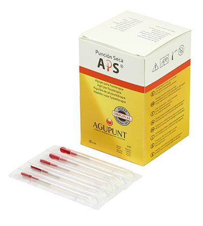 APS Dry Needling Needle, 0.25 x 25mm, Red Tip, 100/Box