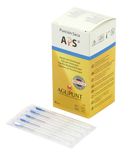 APS Dry Needling Needle, 0.32 x 40mm, Blue Tip, 100/Box