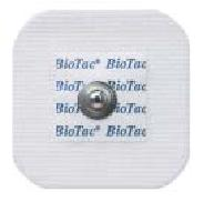 Kendall 7663 Biotac Cloth Electrodes, Pouch of 60, Case of 600 Electrodes