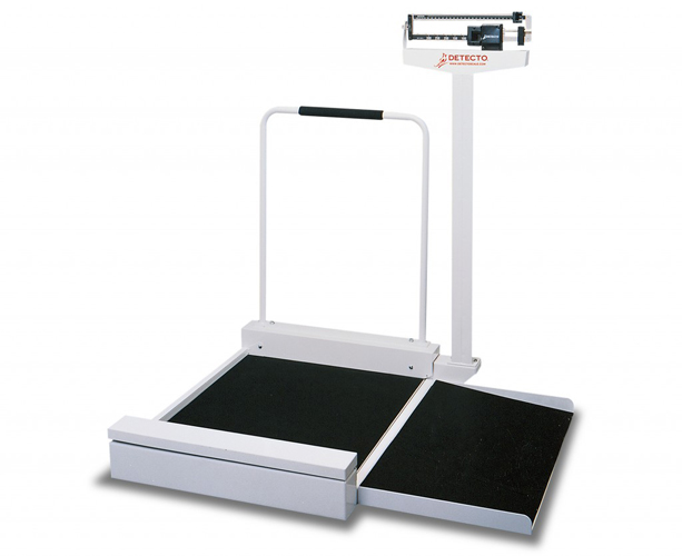 Detecto Weighbeam Stationary Wheelchair Scale, 180 kg x 100 g