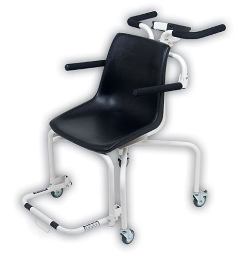 Detecto Digital Chair Scale with Fold Up Armrests and Footrests, 440 lb x .2 lb / 200 kg x .1 kg