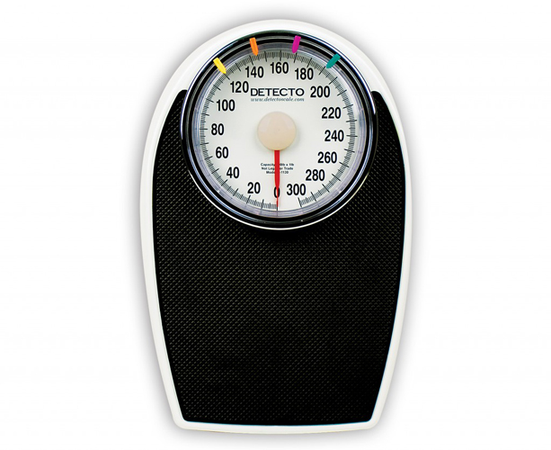 Detecto D1130 Series Bathroom Scale, 300 lb x 1 lb