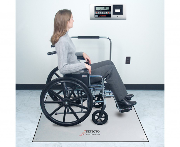 Detecto FH Series In-Floor Scale, 4' x 4', 1000 Lb Capacity, Handrail