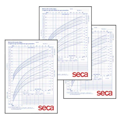 Seca 405B Growth Charts - Boys, 0-36 months, 100/pack