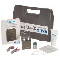 Drive Black Portable Dual Channel TENS Unit with Electrodes and Carry Case
