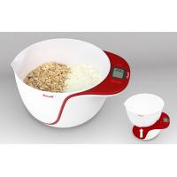 Escali Taso Mixing Bowl Scale, 11 Lb / 5 Kg, Apple Red
