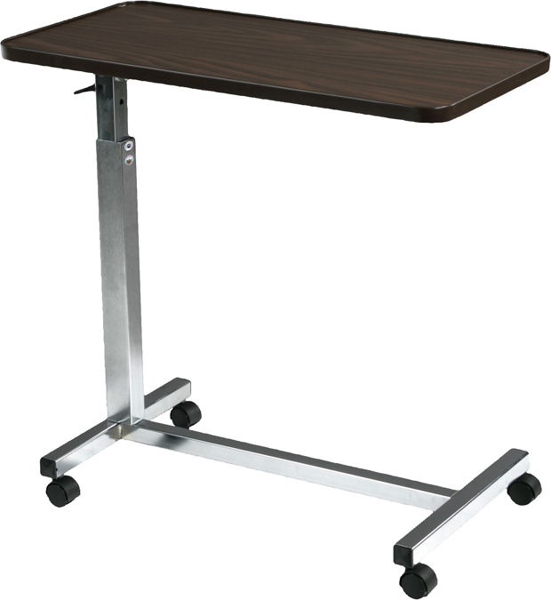 Drive Medical Design Tilt Top Overbed Table: Deluxe