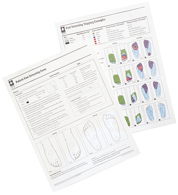 touch-test u2122 monofilament - screening form for foot