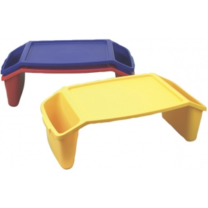 Generic Plastic Bed Tray with Side Pockets
