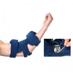 Comfy Splints Elbow Orthosis, Comfyprene Goniometer Elbow: Adult, Dark Blue, Neoprene