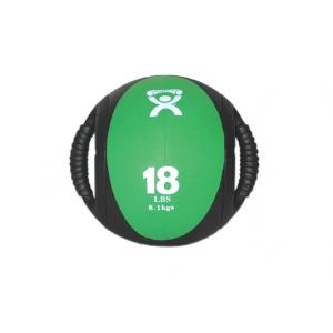 Cando 174 Dual Handle Medicine Ball 9 Quot Diameter Green
