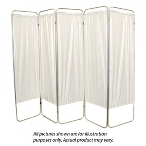 "Standard 5-Panel Privacy Screen - Yellow 4 mil vinyl, 84"" W x 68"" H extended, 19"" W x 68"" H x4"" D folded"