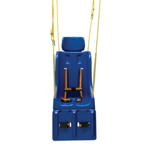 Full support swing seat with pommel, head and leg rest, small (child), with rope