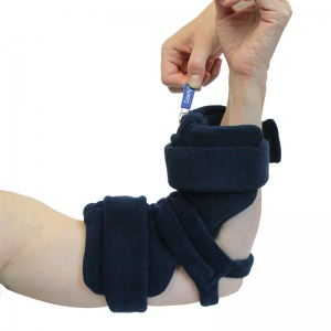 Comfy Splints Elbow Orthosis, Comfy Locking Elbow / Pull Ring, Pediatric Medium, Turquoise, Terry Cloth