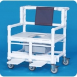 Innovative Products Unlimited Bariatric Shower Commode Chair: 900# Capacity