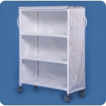 "Innovative Products Unlimited 3 Shelf Linen Cart: 46"" x 20"" Shelves, Replaces ELC33 & LC303"