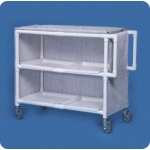 Innovative Products Unlimited Jumbo Linen Cart: Two Shelves