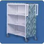 Innovative Products Unlimited Jumbo Linen Cart: Three Shelves