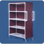 Innovative Products Unlimited Jumbo Linen Cart: Four Shelves