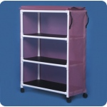 Innovative Products Unlimited Standard Line Jumbo Linen Cart: Three Shelves