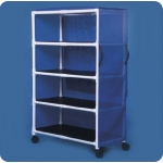 Innovative Products Unlimited Standard Line Jumbo Linen Cart: Four Shelves