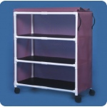 "Innovative Products Unlimited Standard Line Linen Cart: Three Shelves, 45"" x 20"""