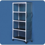 "Innovative Products Unlimited Standard Line Linen Cart: Four Shelves, 36"" X 20"""