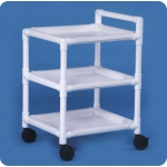 "Innovative Products Unlimited Cart with Three Shelves: No Cover, 26"" x 24"""