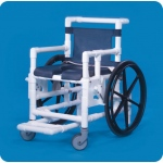 Innovative Products Unlimited Midsize Shower Access Chair with Deluxe Open Front Soft Seat