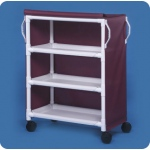 "Innovative Products Unlimited 3 Shelf Linen Cart: 36"" x 20"" Shelves, Replaces ELC30 & LC300"