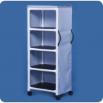 "Innovative Products Unlimited Standard Line Linen Cart: Four Shelves, 26"" X 20"""