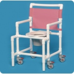 Innovative Products Unlimited Shower Chair Commode: 350# Capacity