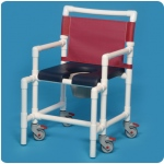 Innovative Products Unlimited Shower Chair Commode with Deluxe Soft Seat: 350# Capacity