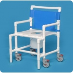 Innovative Products Unlimited Shower Chair Commode with Flat Seat: 400# Capacity
