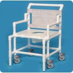 Innovative Products Unlimited Shower Chair Commode with Flat Seat: 550# Capacity