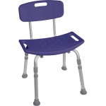 Drive Medical Deluxe Aluminum Bath Chair with Tool-Free Removable Back: Blue