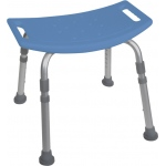 Drive Medical Design Deluxe Aluminum Shower Bench without Back: Blue