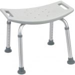 Drive Medical Design Deluxe Aluminum Shower Bench without Back: Gray