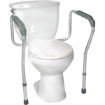 Drive Medical Design Toilet Safety Frame with Height and Width Adjustable Arms