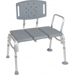 Drive Medical Design Bariatric Transfer Bench: Knocked Down, Tool-Free Removable Back and Arm