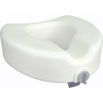 Drive Medical Design Raised Regular/Elongated Toilet Seat: Premium Plastic, without Back, with Lock