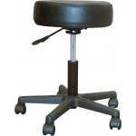 Drive Medical Design Padded Seat Revolving Pneumatic Adjustable Height Stool with Plastic Base