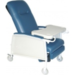 Drive Medical Design 3 Position Geri Chair Recliner: Heavy Duty, Bariatric, Blue Ridge